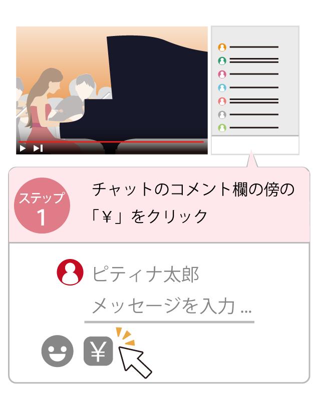 ライブ 投げ銭 Youtube