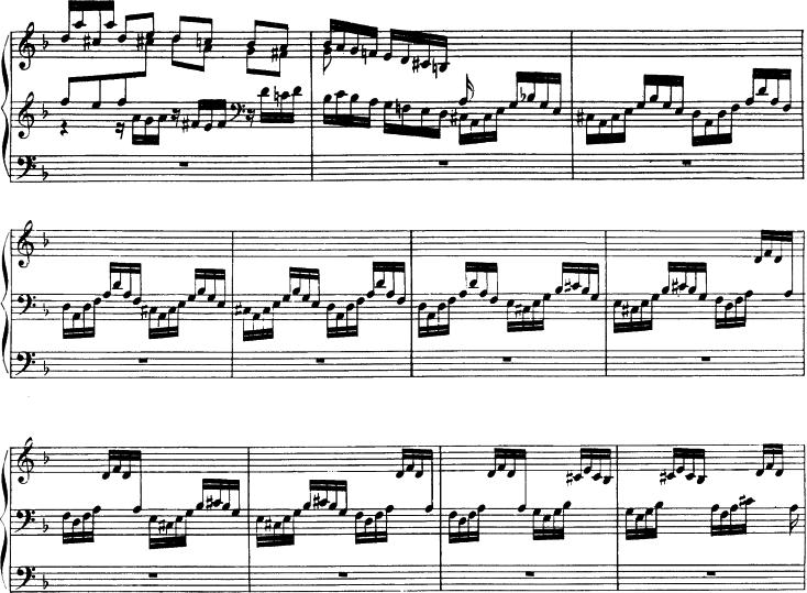 J.S. バッハ《トッカータとフーガ》ニ短調(BWV 565)72~82小節